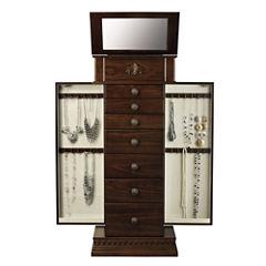 Chestnut Jewelry Armoire