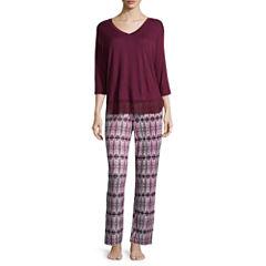 Ambrielle 2-pc. Floral Pant Pajama Set-Tall