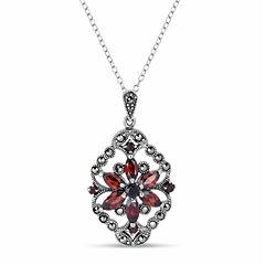 Swarovski Marcasite Sterling Silver Pendant Necklace