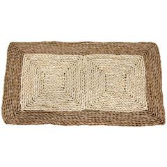 Oriental Furniture Rush Grass And Maize Rectangular Doormat