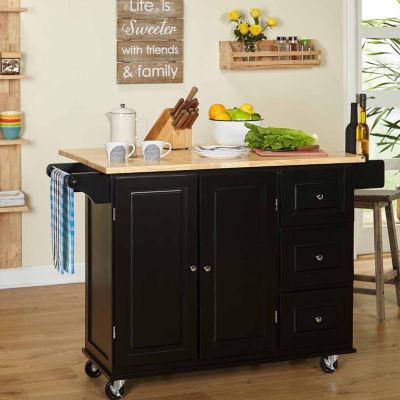 Sundance Wood Top Kitchen Cart
