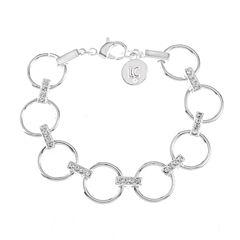Liz Claiborne Womens Clear Chain Bracelet