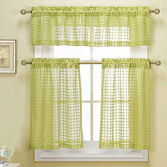 Duck River Cleo 3-pc. Kitchen Curtain Set
