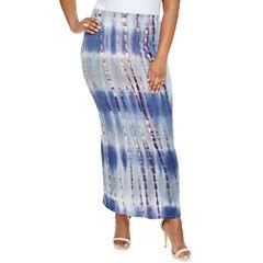 Fashion To Figure Avah Tie Dye Maxi Skirt-Plus