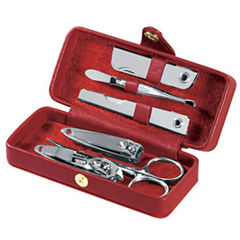 Royce Leather Leather Framed Manicure Kit