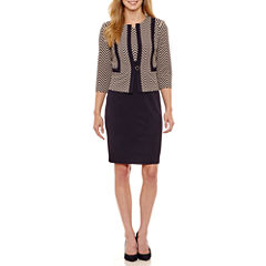 Danny & Nicole Sleeveless Jacket Dress-Petites