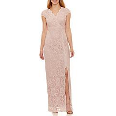 Tw Steel Short Sleeve Evening Gown-Petites
