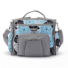 LillyBit Blue Floral Messenger Bag Diaper Bag