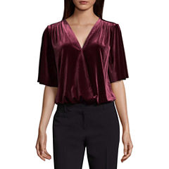 Worthington Velvet Bodysuit