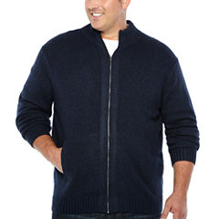 Claiborne Long Sleeve Cardigan - Big and Tall