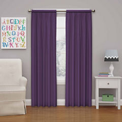 Eclipse® Kids Microfiber Rod-Pocket Thermal Blackout Curtain Panel
