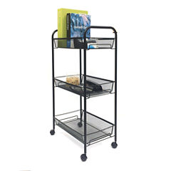 Mind Reader ' Roll'  Rolling 3 shelf cart
