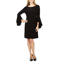 Ronni Nicole 3/4 Bell Sleeve Shift Dress