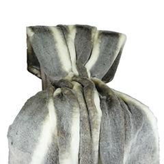 Plutus Tissavel Chinchilla Faux Fur Handmade Throw Blanket