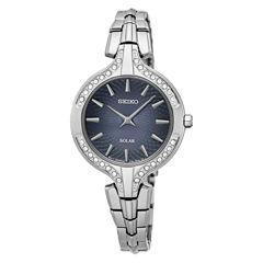 Seiko Womens Silver Tone Bracelet Watch-Sup345