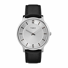 Timex Metropolitan Skyline Mens Black Strap Watch-Tw2r500009j