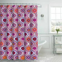 Olina W 12 Mtl Rngs Shower Curtain Set