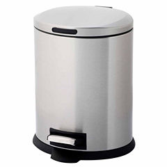Home Zone 5-Liter Oval Trash Can With Pedal