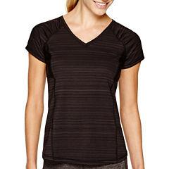 Xersion Short Sleeve Crew Neck T-Shirt-Womens