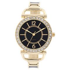 Mixit Womens Gold Tone Bracelet Watch-Jcp3008bg