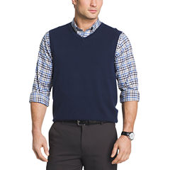 Van Heusen Solid V Neck Sweater Vest