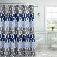 Clarisse Shower Curtain Set with 12 Metal Rings