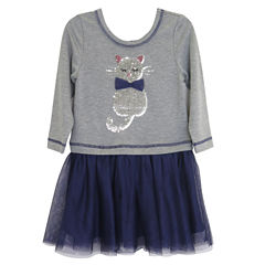 Lilt Long Sleeve Tutu Dress - Toddler Girls