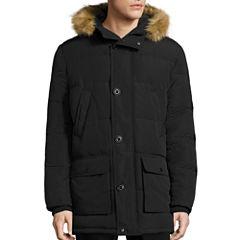 Claiborne® Artic Cloth Snorkel With Fur Hood