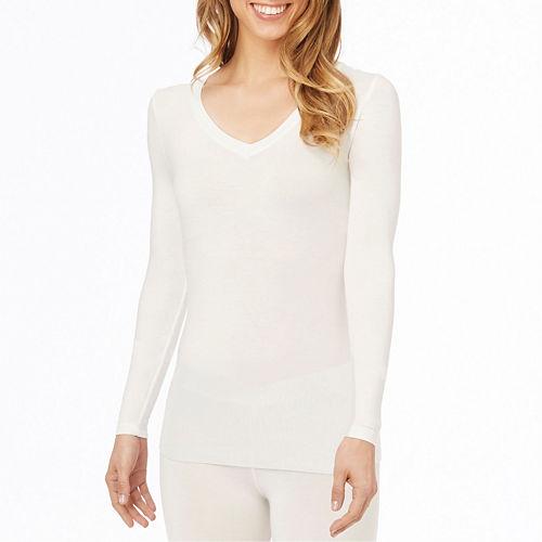 Cuddl Duds® Softwear Long-Sleeve V-Neck Shirt