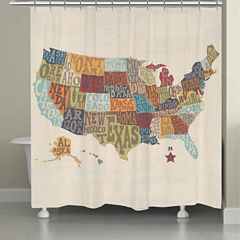 Laural Home States Collage Shower Curtain