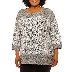Lark Lane Fall Festival Jaquard Tunic-Plus