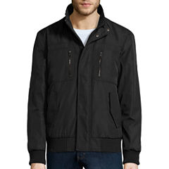 Claiborne® Ripstop Stand Collar Knit Bomber Jacket