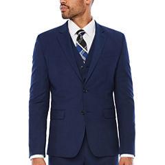 JF J Ferrar® Dark Blue Texture Jacket-Slim