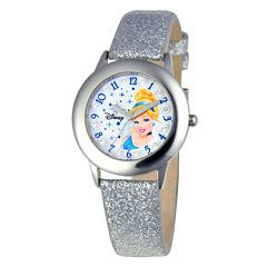 Disney Cinderella Tween Glitz Kids Stainless Steel Watch