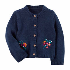 Carter's Long Sleeve Round Neck Cardigan Girls