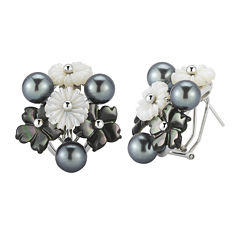 Cultured Freshwater Pearl & Mother-of-Pearl Earrings