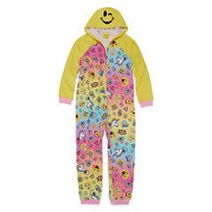 Emoji, Inc. Long Sleeve One Piece Pajama-Big Kid Girls