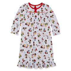 Long Sleeve Peanuts Nightgown-Toddler Girls