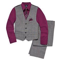 Steve Harvey 4-pc. Suit Set Big Kid Boys