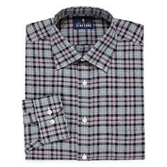 Stafford Long Sleeve Twill Plaid Dress Shirt