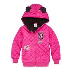Disney Minnie Mouse Lightweight Puffer Jacket - Girls-Big Kid