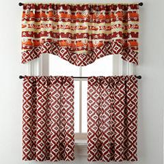 Kokopelli or Desert Diamond Rod-Pocket Diamond Kitchen Curtains