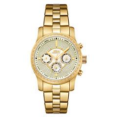 JBW Womens Diamond-Accent Gold-Tone Stainless Steel Bracelet Watch J6327D