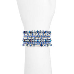 Liz Claiborne Womens Blue Beaded Bracelet