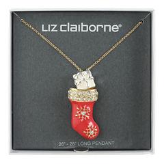 Liz Claiborne Womens Multi Color Pendant Necklace