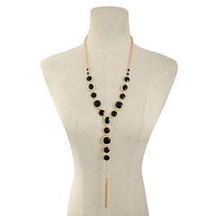 Monet Jewelry Womens Black Pendant Necklace