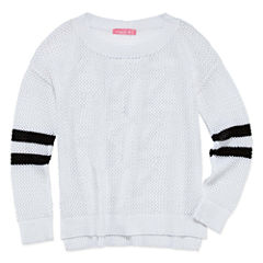 Say What Long Sleeve Graphic Back Sweater - Girls' 7-16