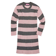Say What Long Sleeve Stripe Tunic Sweater - Girls' 7-16