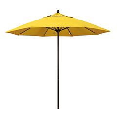 California Umbrella 9' Venture Series Solid Olefin Patio Umbrella With Bronze Aluminum Pole Fiberglass Ribs Push Lift