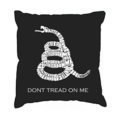 Los Angeles Pop Art DONT TREAD ON ME Throw PillowCover